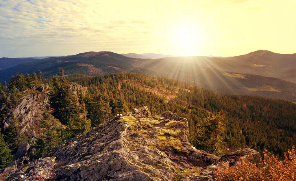 autocampertur tjekkiet sumava nationalpark